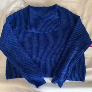 SO Royal Blue Cowl Neck Sweater